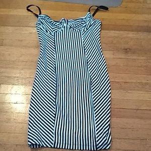 AA stripe underwire dress